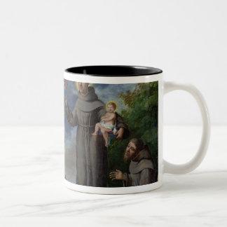 St. Anthony of Padua Preaching to the Fish Two-Tone Coffee Mug
