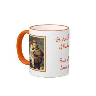 St. Anthony of Padua Ringer Coffee Mug