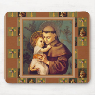 St. Anthony of Padua with Baby Jesus Mouse Pad
