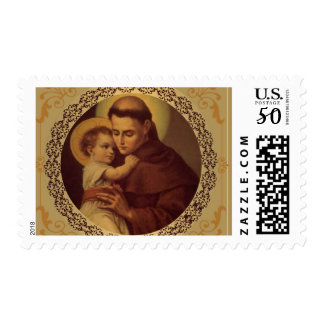 St. Anthony of Padua with Baby Jesus Postage