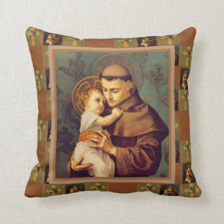 St. Anthony of Padua with Baby Jesus Throw Pillow