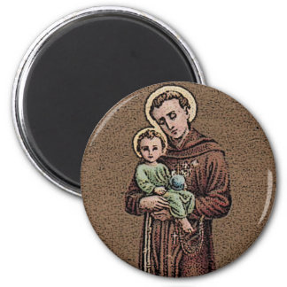 St. Anthony Pray For Us 2 Inch Round Magnet