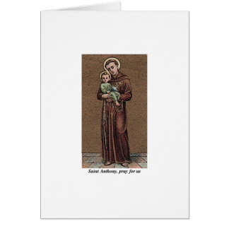St. Anthony Pray For Us Card