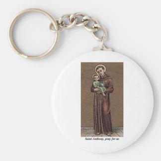 St. Anthony Pray For Us Keychain