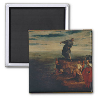 St. Anthony Preaching to the Fish, c.1580 2 Inch Square Magnet