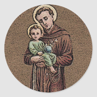 St Anthony ruega para nosotros Pegatina Redonda
