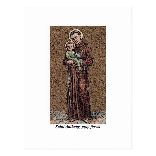 St Anthony ruega para nosotros Postal