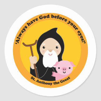 St. Anthony the Great Classic Round Sticker