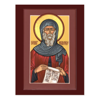St. Anthony the Great Prayer Card Post Card