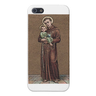 St Anthony y bebé Jesús iPhone 5 Funda