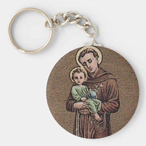 St Anthony y bebé Jesús Llavero