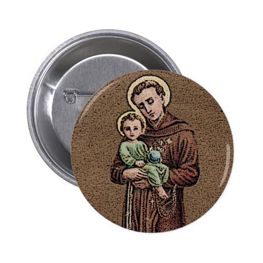 St Anthony y bebé Jesús Pin Redondo 5 Cm