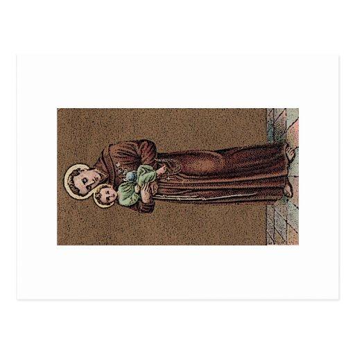 St Anthony y bebé Jesús Postales