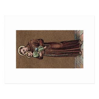 St Anthony y bebé Jesús Postal