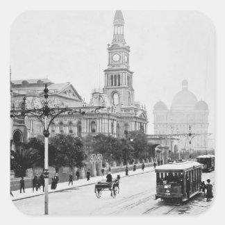 St antiguo Sydney Australia c1898 de George de la Pegatina Cuadrada