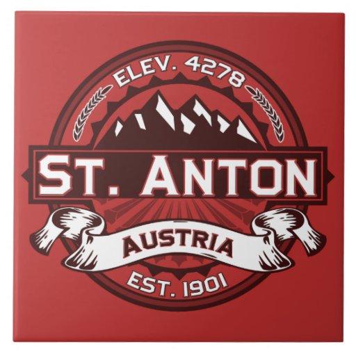 st anton logo ceramic tile zazzle