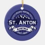 St. Anton Logo Midnight Double-Sided Ceramic Round Christmas Ornament