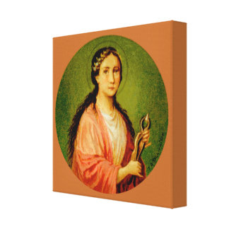 "St. Apollonia (BLA 001) 12""x12""x1.5"" Canvas Print"