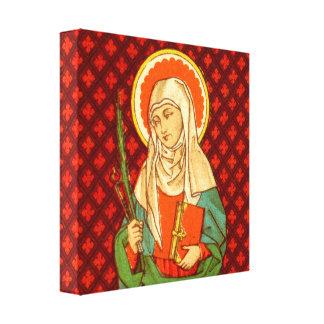 "St. Apollonia (VVP 001)12""x12""x1.5"" Square Canvas Print"