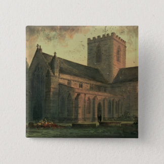 St. Asaph's Cathedral, View from the South-West Pinback Button