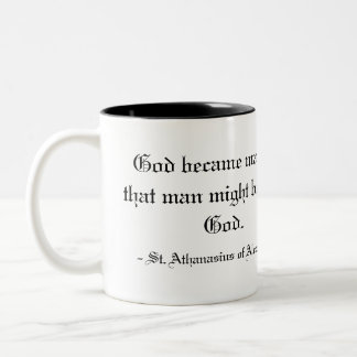 - St. Athanasius de Alexandría Taza De Dos Tonos