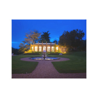 St Audries Orangery at Night Canvas Print