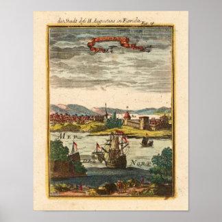 St. Augustin Florida Mallet, Allain Manesson 1719 Poster