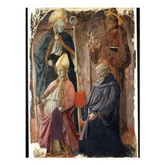 St.Augustin & Francis,Bishop St by Filippo Lippi Postcard