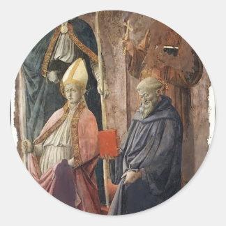 St.Augustin y Francisco, obispo St de Filippo Pegatinas Redondas