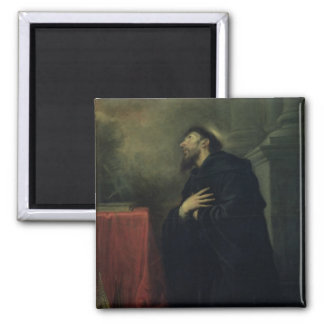 St. Augustine, 1663 2 Inch Square Magnet