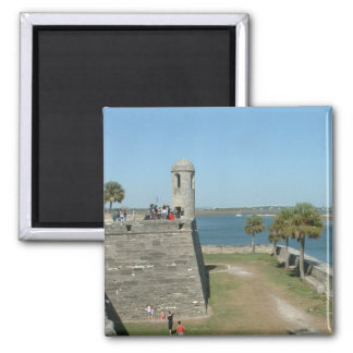 St Augustine 2 Inch Square Magnet