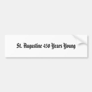 St Augustine 450 años de joven Pegatina Para Auto