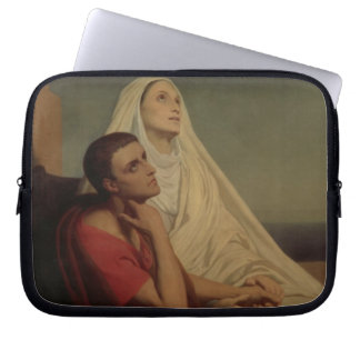 St. Augustine and his mother St. Monica, 1855 Computer Sleeve