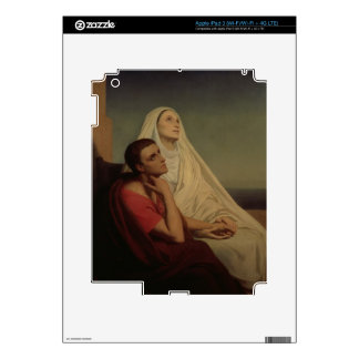 St. Augustine and his mother St. Monica, 1855 Decal For iPad 3