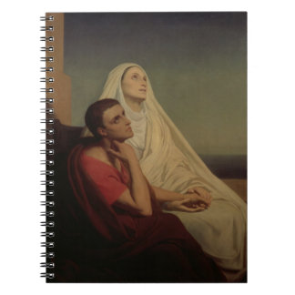 St. Augustine and his mother St. Monica, 1855 Spiral Note Book
