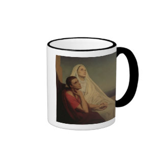 St. Augustine and his mother St. Monica, 1855 Ringer Mug