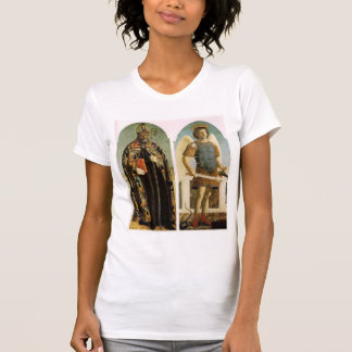 St. Augustine and St. Michael by Piero Francesca T Shirts