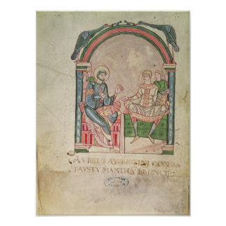 St. Augustine Arguing with Faustus Poster