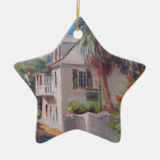 St. Augustine Aviles Street Florida Double-Sided Star Ceramic Christmas Ornament