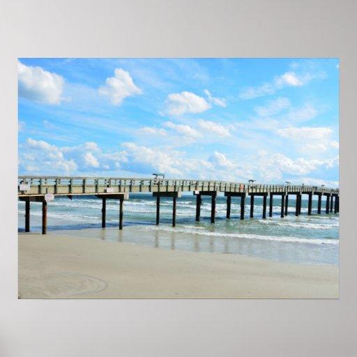 St augustine beach fishing pier poster zazzle for St augustine fishing pier