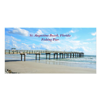St. Augustine Beach, Fl. fishing pier photo card