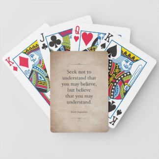 St. Augustine Bicycle Playing Cards