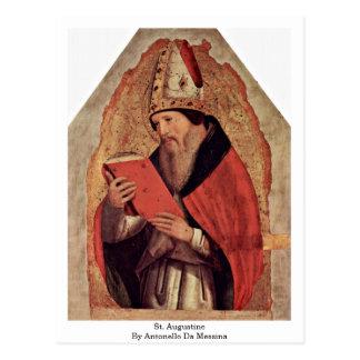 St. Augustine By Antonello Da Messina Post Card