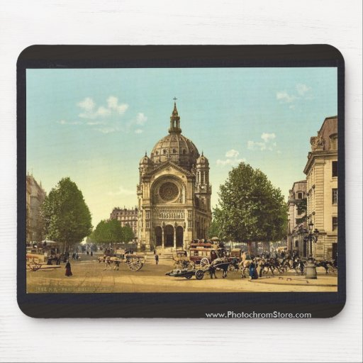 St. Augustine Church, Paris, France classic Photoc Mouse Pad