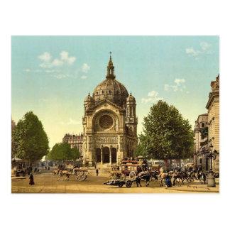 St. Augustine Church, Paris, France classic Photoc Postcard