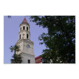 St Augustine Clock Tower Poster