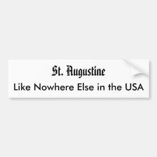 St Augustine, como pegatina para el parachoques de Pegatina Para Auto