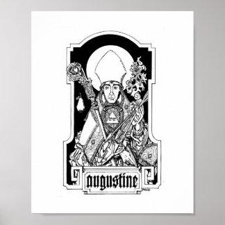 """St Augustine del hipopótamo 8"""" x 10"""" impresión Póster"""