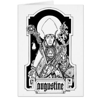 St Augustine del hipopótamo Notecard Tarjeta Pequeña