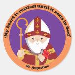 St Augustine del hipopótamo Pegatina Redonda